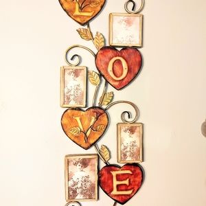 Wall Art Metal Love Picture Frame